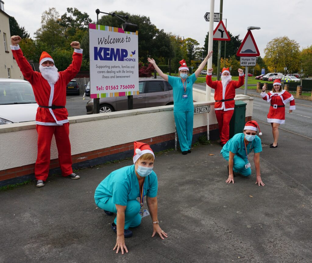 Blisstech Solutions, - Wyre Business Consultants & KEMP nurses in Santa outfits