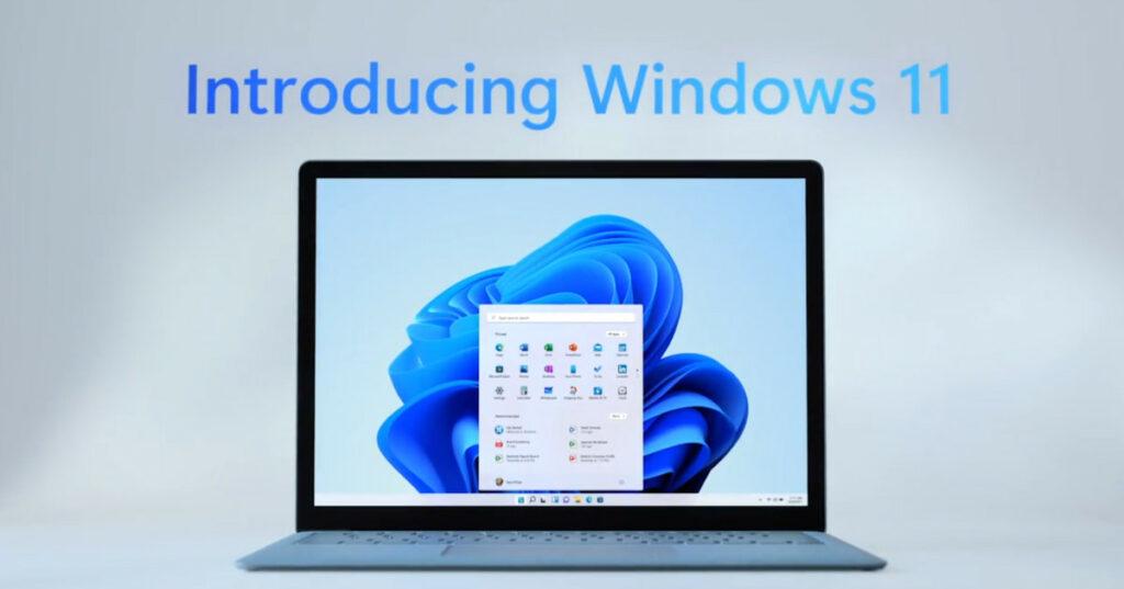 Windows 11 on a Laptop Screen